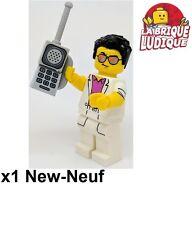 Lego - Figurine Minifig Minifigurine série 17 Yuppie téléphone phone homme NEUF