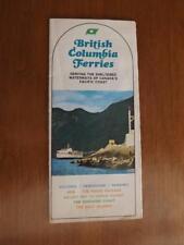 BRITISH COLUMBIA FERRIES TRAVEL BROCHURE SCHEDULE MAP ROUTES MOTOR COACH BUS