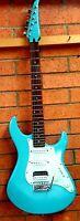 Vintage Custom Yamaha HSS electric guitar w/ alder body, rosewood JBL Seymour HB