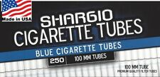 Shargio Blue (Light) 100s Size Cigarette Tubes 250 Count Box