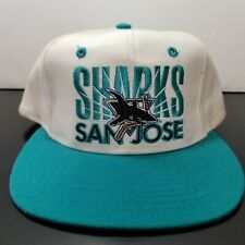 Vintage San Jose Sharks Teal White Snapback Hat Signature NHL NEW WITH TAGS