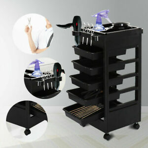 6 Layer Storage Trolley For Barber Shop Tattoo Shop Compartment Trolley For Spa