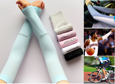 1Pair Sun Protection UV Blocking Cooling Sleeves Cycling Golf Fishing Arm Sleeve