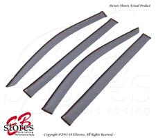 For Dodge Grand Caravan 2008-16 Tape On Ash Grey JDM Window Visors Deflector 4pc