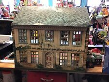 VINTAGE TIN LITHO MARX DOLLHOUSE WITH TONS OF FURNITURE AND ACCESSORIES