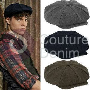 Heritage Baker Boy Peaky Blinders Herringbone Weave Fashion Cap Mens Womens Hat