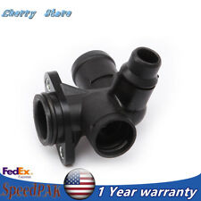 New Thermostat Housing Coolant Flange Water Hose Connector Fit For Audi A4 S4 A6