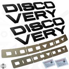 Matt Black Bonnet+tailgate lettering Kit for Land Rover DISCOVERY 5 front+rear
