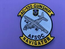USAF LOCKHEED AC-130 GUNSHIP AFSOC NAVIGATOR PATCH MEASURES 5 X 4 1/4 INCHES