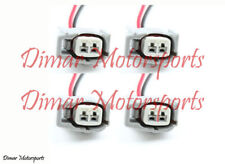 4-Toyota Female Fuel Injector Connector Electrical Plug Clip Pigtail