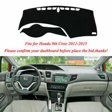 For Honda Civic 2011-2015 Fly5D Dashboard Pad Cover Dash Mat Carpet Interior