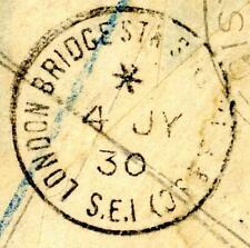 1930 GB London Bridge Station single circle postmark on piece
