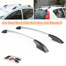 New 1.6M Black+Silver Car Roof Rack Side Rails Bars Fit for Mazda 5