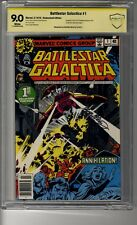 Battlestar Galactica # 1 Newstand Edition CBCS 9.0 White Pages - SS Bob McLeod