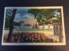THE SWIMMING POOL, RIVERVIEW BEACH PARK Postcard Pennsville, New Jersey