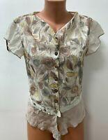Piro ELISA CAVALETTI size S / M Shirt Top Blouse Multicoloured Silk Parts