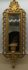 Vintage Mcm Homco Gold Smoky Mirror Candle Holder Wall Sconce