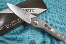 Twosun Knives Outdoor D2 Titanium Ball Bearing Fast Open Pocket Knife Slide TS79