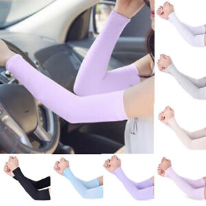 1 Pair Men Women Arm Sleeves Summer Sun UV Protection Outdoor Driving Arm Cover