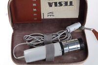 Old TESLA AMD-210 Vintage Dynamic Microphone +Case + Manual