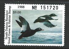ND50, 1988 North Dakota Duck Stamp, $9.00 White-Winged Scoters
