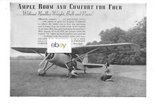 """FAIRCHILD AIRCRAFT CORP 1938 4 PLACE """"24"""" AMPLE ROOM & COMFORT FOR 4 AD"""