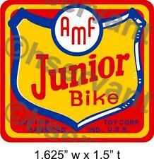 HEADSTAMP -BATWING BIKE VINTAGE AMF JUNIORTRICYCLE DECAL LABEL - ANTIQUE 1950s