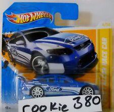 2012 Hot Wheels HW PREMIERE #4 * FORD FALCON RACE CAR * BLUE INSC SHORT CARD
