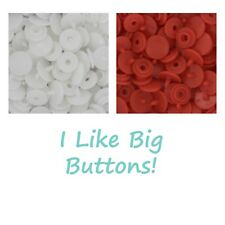 SIZE 16 - 100 KAM Snaps Plastic/Resin - Doll Clothes/Ribbon Projects (2 Colors)