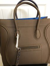 New Auth CELINE Phantom Luggage Moss Green Blue Grained Leather Tote Bag $3400