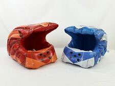 RARE Limited Edition Halo 4 Red & Blue Inflatable Spartan Helmets Promo Gear