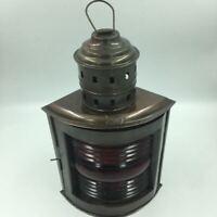 "Nautical Ship Copper 14"" Lantern Lamp Port Masthead Red, Pirate, Hanging"