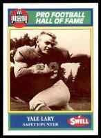 1989 Hall of Fame Green #106 Yale Lary HOF RARE Detroit Lions / Texas A&M