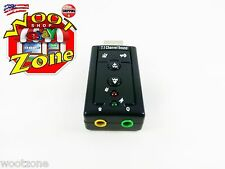 Desktop Black External USB 2.0 to 3D Virtual Audio Sound Card Adapter 7.1 CH