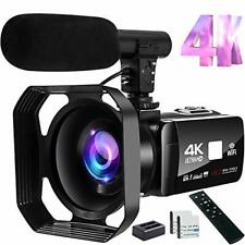 Video Camera 4K Camcorder 48MP Image Vlogging Camera with Wi-Fi 18X 4K-1