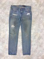 Adriano Goldschmied Women's Blue Light Wash Stevie Slim Straight Jeans Sz 30R