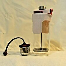 2 in 1 Coffee Tea Maker Love Your Kitchen Glass 3 Cups French Press or Tea Maker