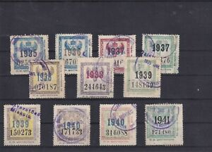 0403  Hungary Nice lot of train stamps see scan