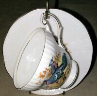 Queen's Fine Bone China Cup And Saucer Vintage Made In England