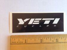 "3 7/16""  YETI CYCLES White/Black Axe MTB BICYCLES BIKE FRAME -- STICKER DECAL"