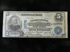 $5 1902  Chatham Phenix New York National Currency Bank Note Bill Ch. #10778