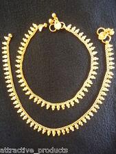 Gold Plated Fashion Anklet Payal Pajeb Indian Banjara Tribal Boho Diamantes 22K