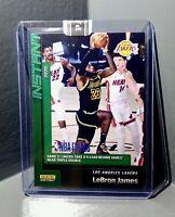 LeBron James 2020 Panini LA Lakers NBA Champions #23 Green Parallel Card 10/10