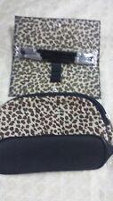 "New Lancome cosmetic bag &  3 Lancome brush set 6"" travel size"