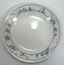 Corelle Bread & Butter Dessert Plate FIRST OF SPRING  White Flowers Blue Leaves