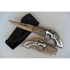 CP-064 Couteau De Poche Multifonctions « Pistolet » Lame Acier 10 Cm Outdoor