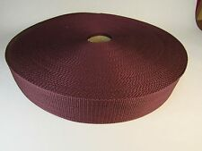 10 yards 2 in MAROON/BURGUNDY poly webbing crafts sewing CLOSE OUT half price