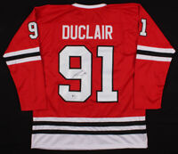 Anthony Duclair Chicago Blackhawks Signed Hockey Jersey ~ Beckett COA Authentic!