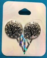 One Pair Claire's Katy Perry Prism Collection Small Medallion Silver Earrings
