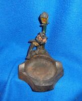 Vintage Hobo on Lamppost Cast Iron Ashtray